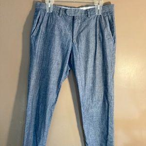 J. Crew Bowery cotton blue pants W32 L30